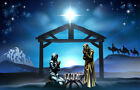 Nativity Scene of Baby Jesus Photography Studio Background Customize Backdrop