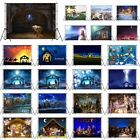 10X8FT Vinyl Holy Night Jesus Nativity Manger Studio Backdrop Photo Background