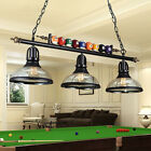 Vintage Metal Ball Design Pool Table Light Billiard Lamp with Glass Bowl Shades