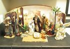 Rare Kirkland Nativity Set Large 20 pc FABRIC MACHE in Box