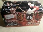 Vintage ANCHOR HOCKING 12 Days of Christmas Glasses Set of 12 in Original Box