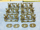 6 Vtg. BRASS DRAWER PULLS / HANDLES DECORATIVE ORNATE VICTORIAN DROP PULL
