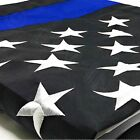 Thin Blue Line American US Flag Police Lives Matter Embroidered Star Stripes 3x5