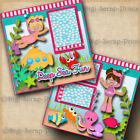 DEEP SEA FUN snorkeling GIRL 2 premade scrapbook pages layout DIGISCRAP A0174
