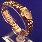 PULSAR Women's Watch White Dial Gold Tone Stainless Steel Strap New Battery