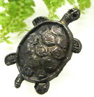 CUTE OLD METAL TURTLE STUD BUTTON H44