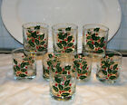 VTG SET OF 8 INDIANA HOLLY ON THE ROCKS / OLD FASHIONED BAR GLASSES C