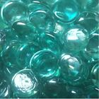 14oz - 48oz3lbs Glass Gems Standard 17-22mm Flat Marble - Vase Filler Art Aqua