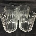 ARABIA FINLAND ROCK WHISKEY BRANDY OR WATER TUMBLER GLASS SET 4 GLASSWARE