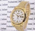 VINTAGE SEIKO 5 AUTOMATIC 17 JEWEL GOLD PLATED CASE DAY DATE MENS WRIST WATCH