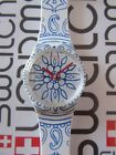 Swatch Blue Poetry GW171 2015  Standard Gents 34mm Silicone