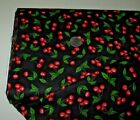 Quilting Treasures quilt fabric Home Sweet Home CHERRIES black 2 yds 26330Last