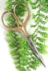 LOVELY ANTIQUE EMBROIDERY SCISSORS WITH GOLD GILT HANDLE SIGNED D. PERES GERMANY