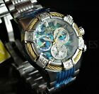 Invicta Men's 51mm BOLT Abalone Dial Gold Wire Swiss Chronograph Silver Watch