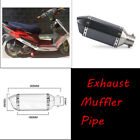 Universal Moped Scooter Exhaust Muffler Pipe + Removable DB Silencer Can Solid