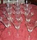 12 Lovely  Vintage Thin Cut Crystal  Wine  Water Glasses