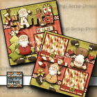 SANTA CHRISTMAS 2 premade scrapbook pages layout paper piecing DIGISCRAP A0191