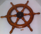 Vintage Wooden Ships Wheel, Ships Helm, Steering Wheel, Nautical Decor, Real