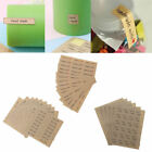 Hand Made LOVE Kraft Paper Seal Adhesive Sticker For Handmade Product DIY Bakery