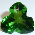 Grass Green Helenite Trillion Tripod Cut Faceted Loose Gemstones Fine Cut AA+