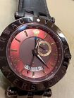 Versace Men's V-Race Watch 29G60D598 S497 Brown Leather GMT Date Watch