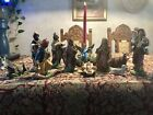 Vintage Set of 12 Nativity Set Depose Italy Figures Christmas Creche