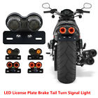 Motorcycle LED Brake Stop Tail Light Turn Signal License Universal Fit Red Amber