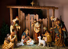 Xmas Manger Jesus Nativity Figurines 10x8FT Vinyl Background Studio Backdrop LB