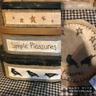 Brand New Primitive Large Stacking Boxes Matching Trivet