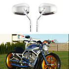 For Harley-Davidson Sportster 883 Low XL883L Chrome Motorcycle Mirrors Tapered