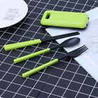 3pcs Portable Tableware Sets with Folding Spoon Fork Chopsticks for Bento Box
