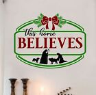 This Home Believes Christmas Nativity Letters Words Wall Decals