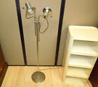 MID CENTURY MODERN LAUREL Lighting Chrome FLOOR LAMP Dual Cone Head Spot Light