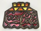 Vintage COCA COLA Stained Glass Cast Iron Trivet 1950s