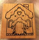 Gingerbread House Rubber Stamp Christmas Alias Smith and Rowe