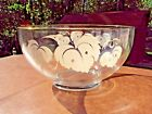 Vintage C. 1950's Punch Bowl / center piece-  with Grape design- Anchor Hocking