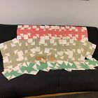 's Quilt Blocks Feedsack Print Cutter Craft w/ Pattern Maple Leaf