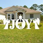 Christmas Yard Art 5 Pcs Set Joy Nativity Scene Decoration Xmas Lawn Display New