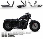 Fit for Harley 2004 2013 Sportster 1200 XL1200 Slip On Pipes Muffler Exhaust B1
