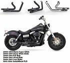 Fit for Harley Dyna 2012 2016 SwitchBack FLD Slip On Pipes Muffler Exhaust B2