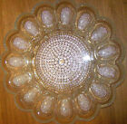 INDIANA GLASS HOBNAIL RELISH DEVILED EGG DISH CLEAR GLASS  mint