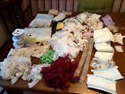 HUGE LOT! ASSORTED VINTAGE LACE~SEWING~TRIM YARDAGE~COSTUME CRAFTS~DOLL CLOTHES