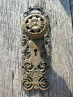 Vintage Old Rare Antique Bronze Door Knob and Back Plate from Reading Hardware