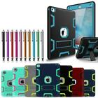 Military Shockproof Heavy Duty Rubber Defender Stand Case Cover For Apple iPad