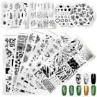 NICOLE DIARY Nail Stamping Plates Valentines Day Lace Flower Image Templates