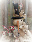 FOLK Art PRIMITIVE CounTry Merry ChrisTmas Home SNOWMAN DOLL Holiday DecoraTion