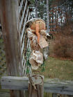 FoLk Art PrimiTive SnOw ChrisTmas green SNOWMAN Tree Topper DOLL DecoraTion TaG