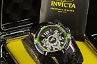 25769 Invicta Bolt TRI CABLE 51mm Iridescent Rainbow Black Chrono Dial Watch NEW
