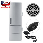 USB Mini Fridge Freezer Cans Drink Beer Cooler Warmer Travel Car Office Use