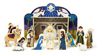 Melissa  Doug Classic Wooden Christmas Nativity Set With 4 Piece Stable and 11